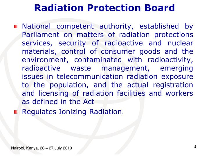 Radiation protection board