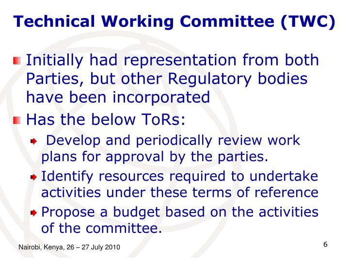 Technical Working Committee (TWC)