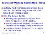 technical working committee twc