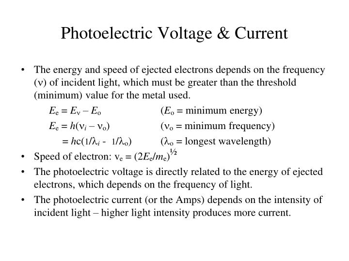 Photoelectric Voltage & Current