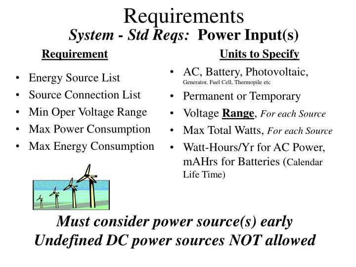 System - Std Reqs: