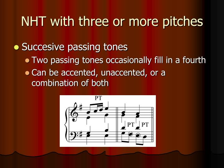 NHT with three or more pitches
