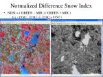 normalized difference snow index