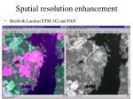 spatial resolution enhancement