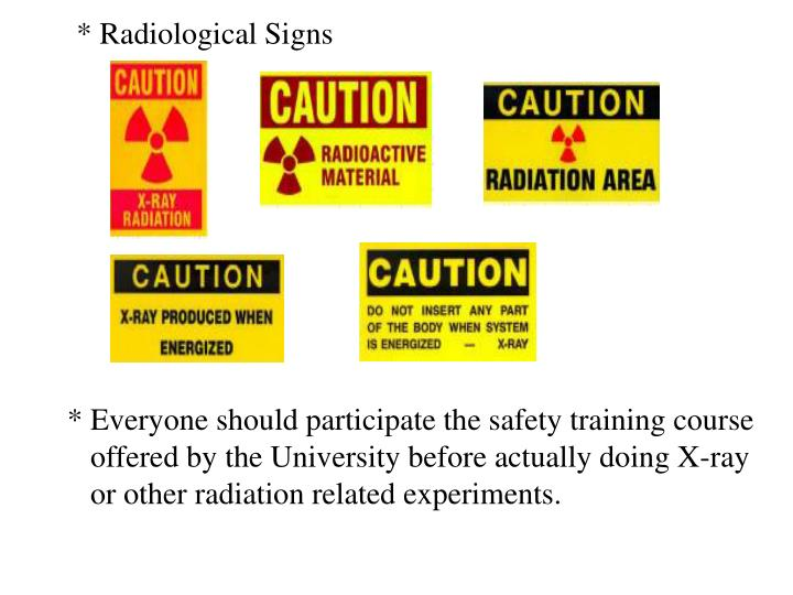 * Radiological Signs