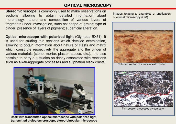 OPTICAL MICROSCOPY