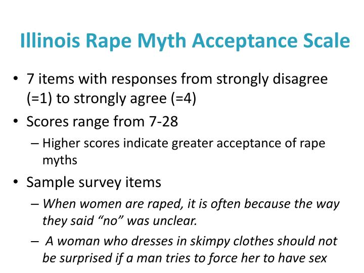 Illinois Rape Myth Acceptance Scale