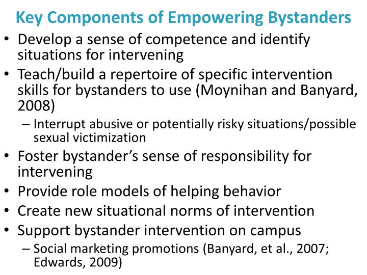 Key Components of Empowering Bystanders