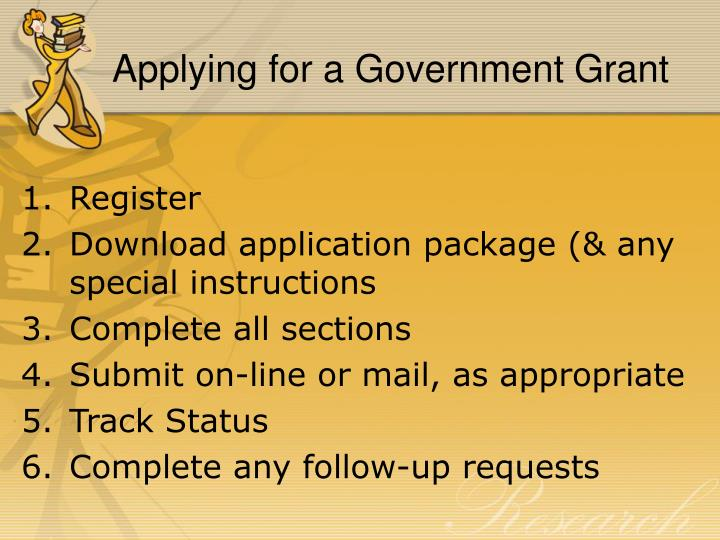Applying for a Government Grant