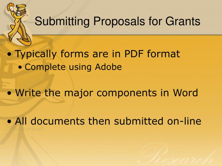 Submitting Proposals for Grants