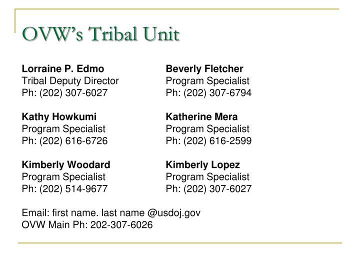OVW's Tribal Unit