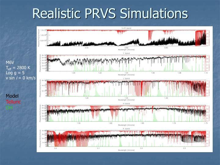 Realistic PRVS Simulations