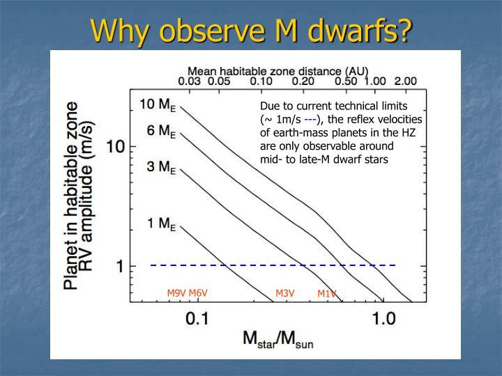 Why observe M dwarfs?