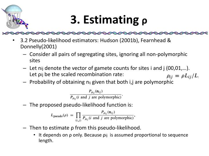 3. Estimating