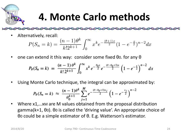 4. Monte Carlo methods