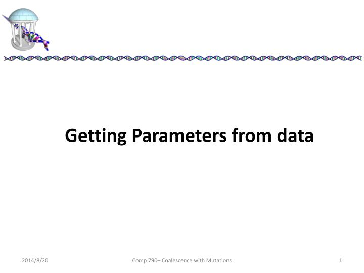 Getting Parameters from data
