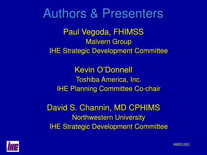 Authors & Presenters