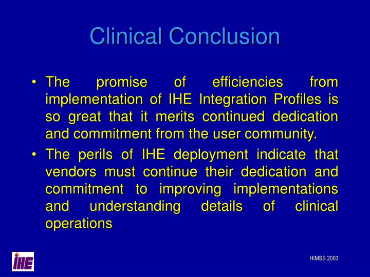 Clinical Conclusion