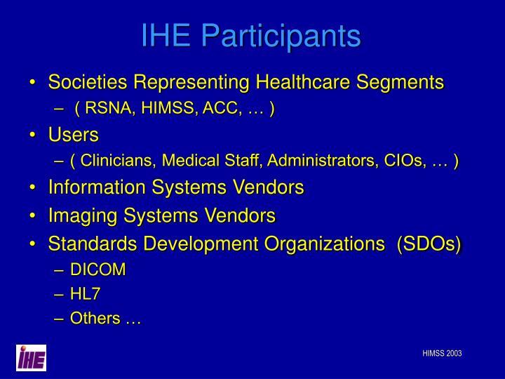 IHE Participants