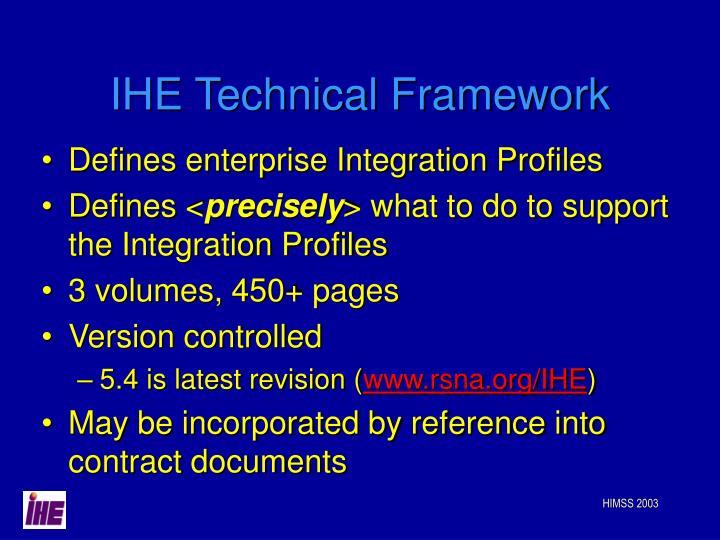 IHE Technical Framework