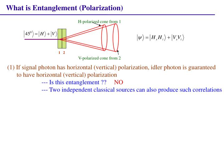 What is Entanglement (Polarization)