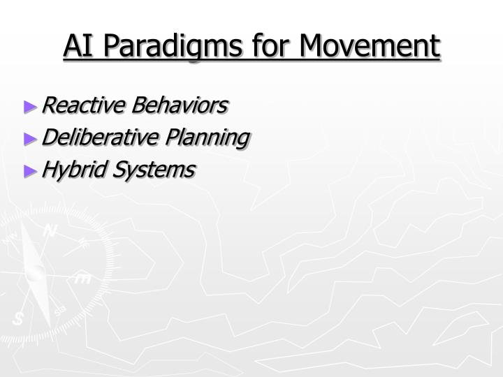 AI Paradigms for Movement
