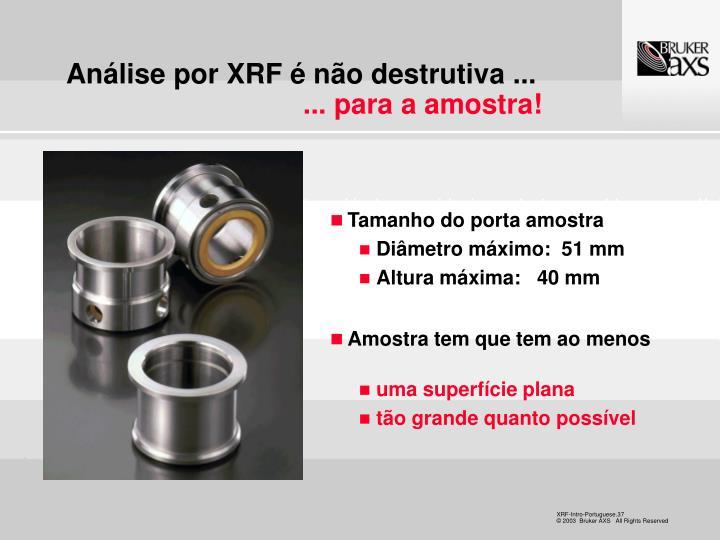 Análise por XRF