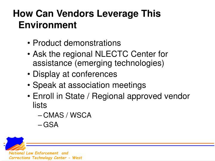 How Can Vendors Leverage This Environment