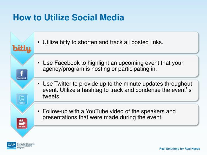 How to Utilize Social Media