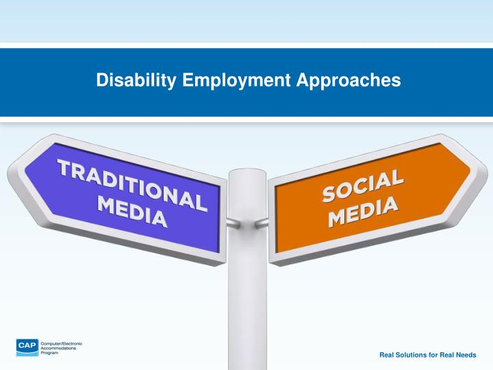 Disability Employment Approaches
