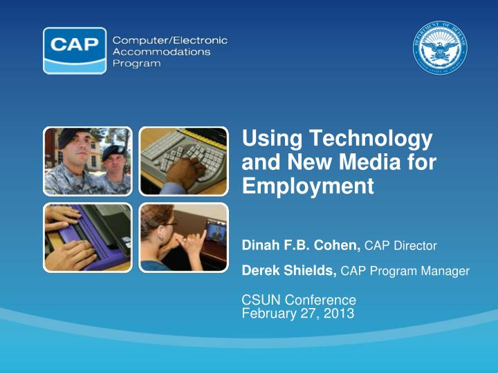 using technology and new media for employment