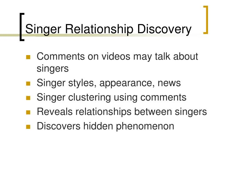 Singer Relationship Discovery