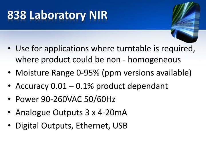 838 Laboratory NIR