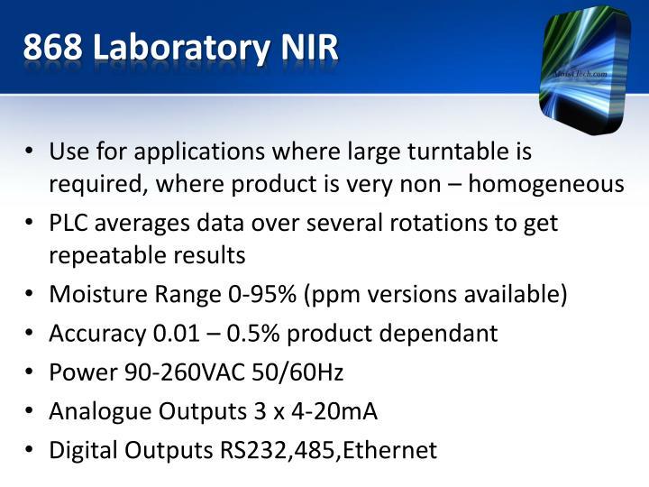 868 Laboratory NIR