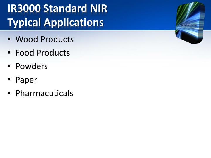 IR3000 Standard NIR