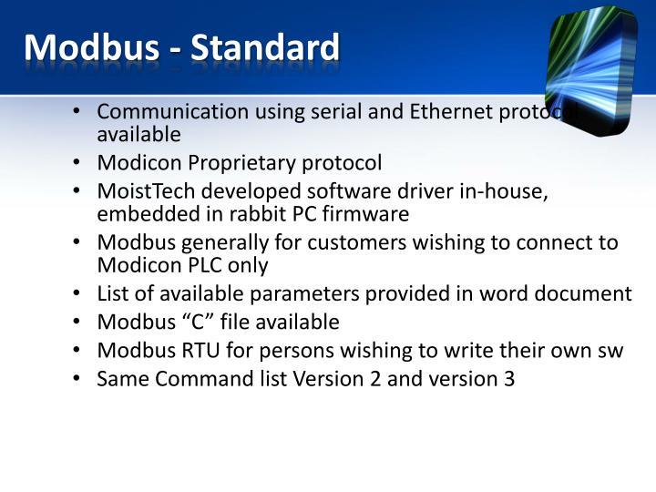 Modbus - Standard