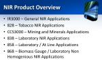 nir product overview