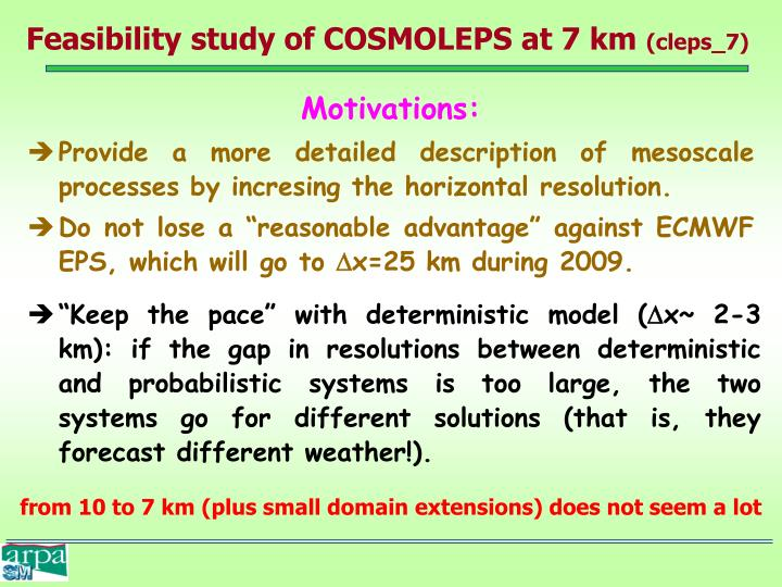 Feasibility study of COSMOLEPS at 7 km