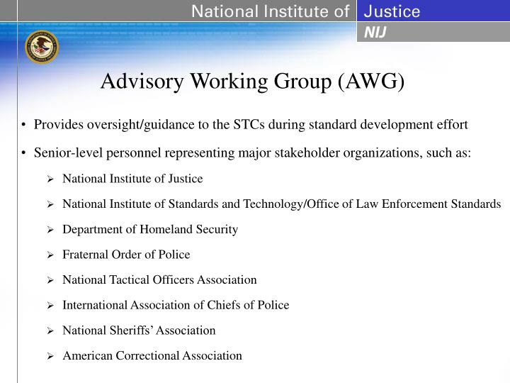 Advisory Working Group (AWG)