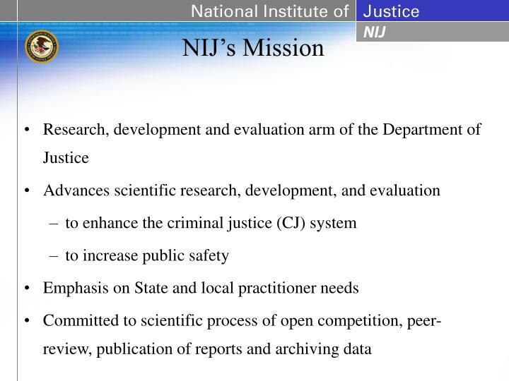 NIJ's Mission