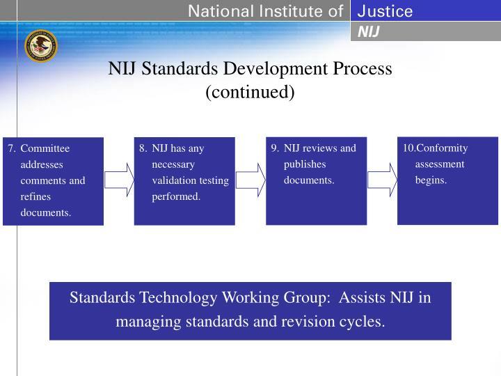 NIJ Standards Development Process