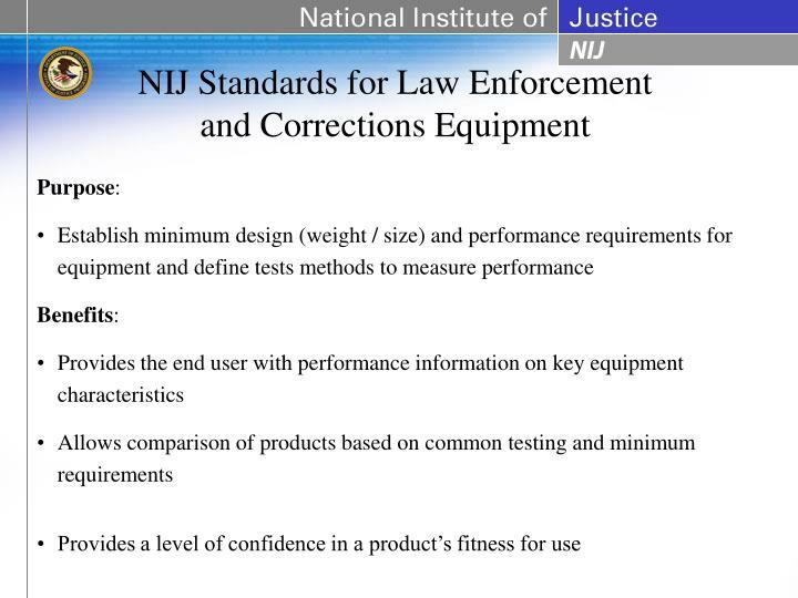 NIJ Standards for Law Enforcement