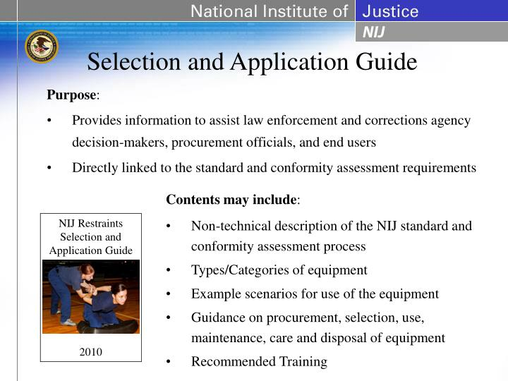 Selection and Application Guide