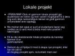 lokale projekt