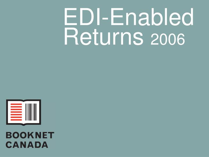 Edi enabled returns 2006