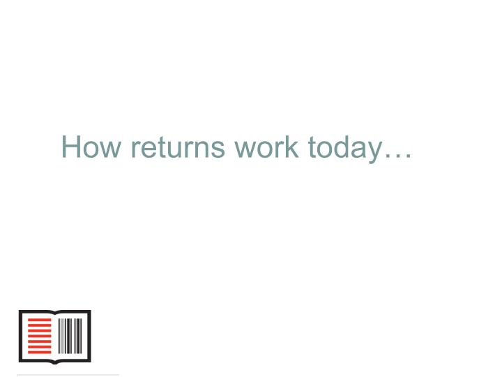 How returns work today