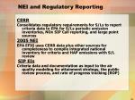 nei and regulatory reporting