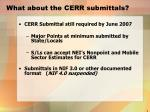 what about the cerr submittals