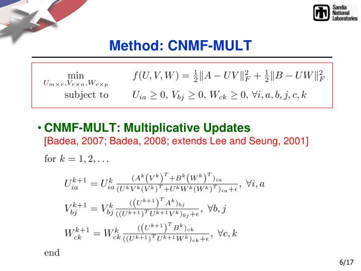 Method: CNMF-MULT