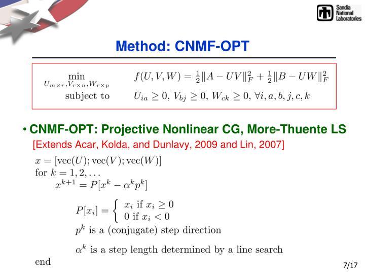 Method: CNMF-OPT